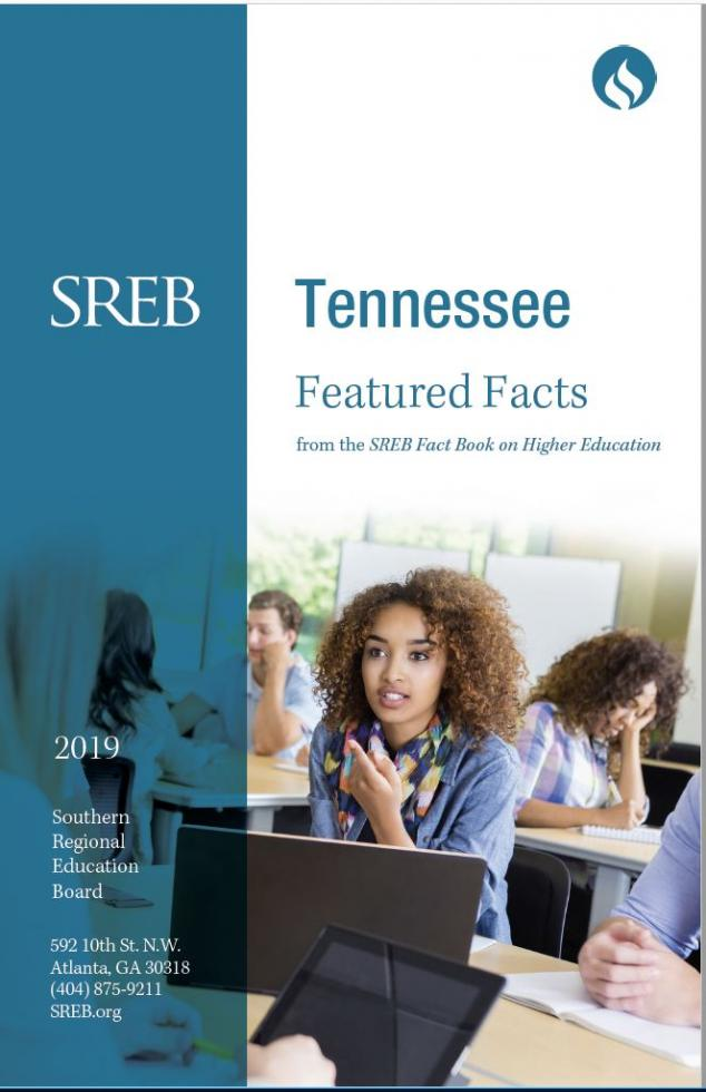 Tennessee Featured Facts from the SREB Fact Book on Higher Education. 2019