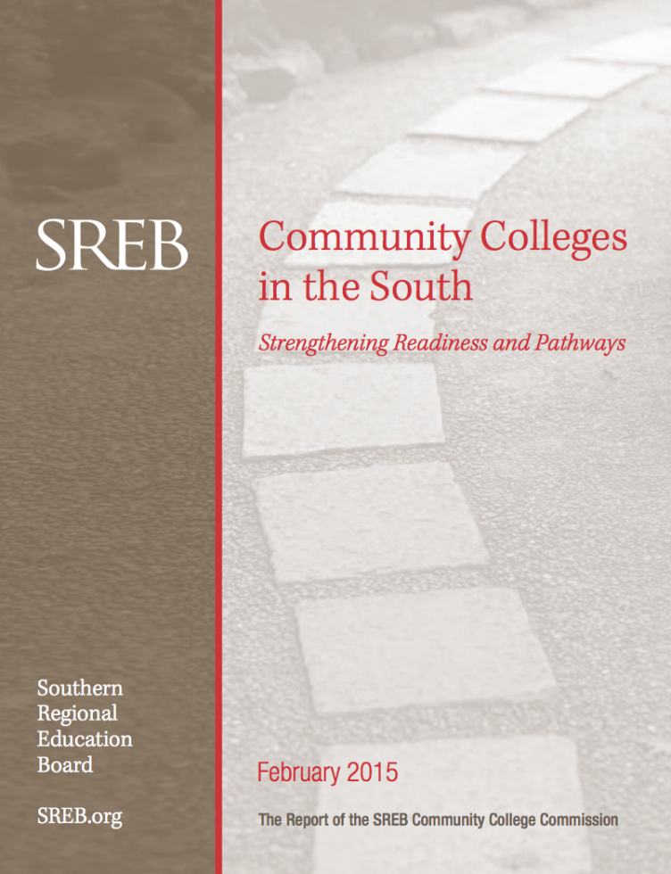 Report cover: Community Colleges in the South